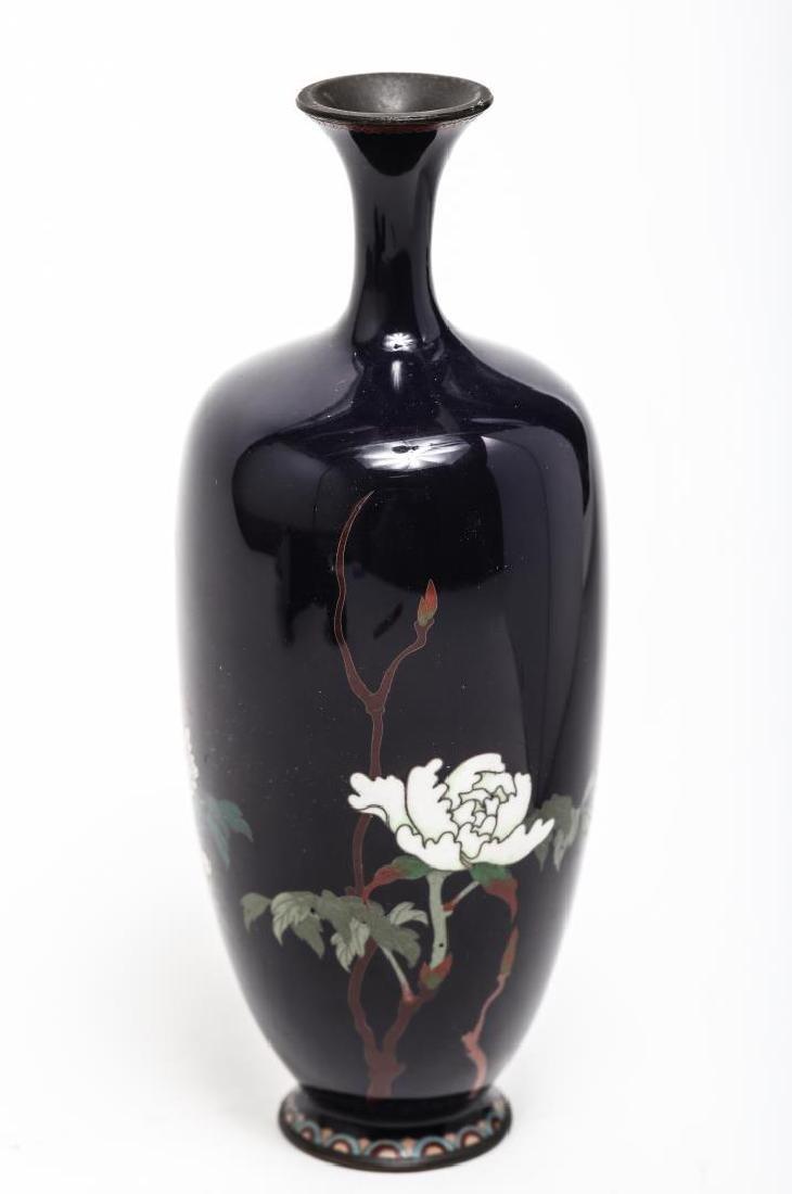 Japanese Cloisonne Enamel Vase, Antique - 2