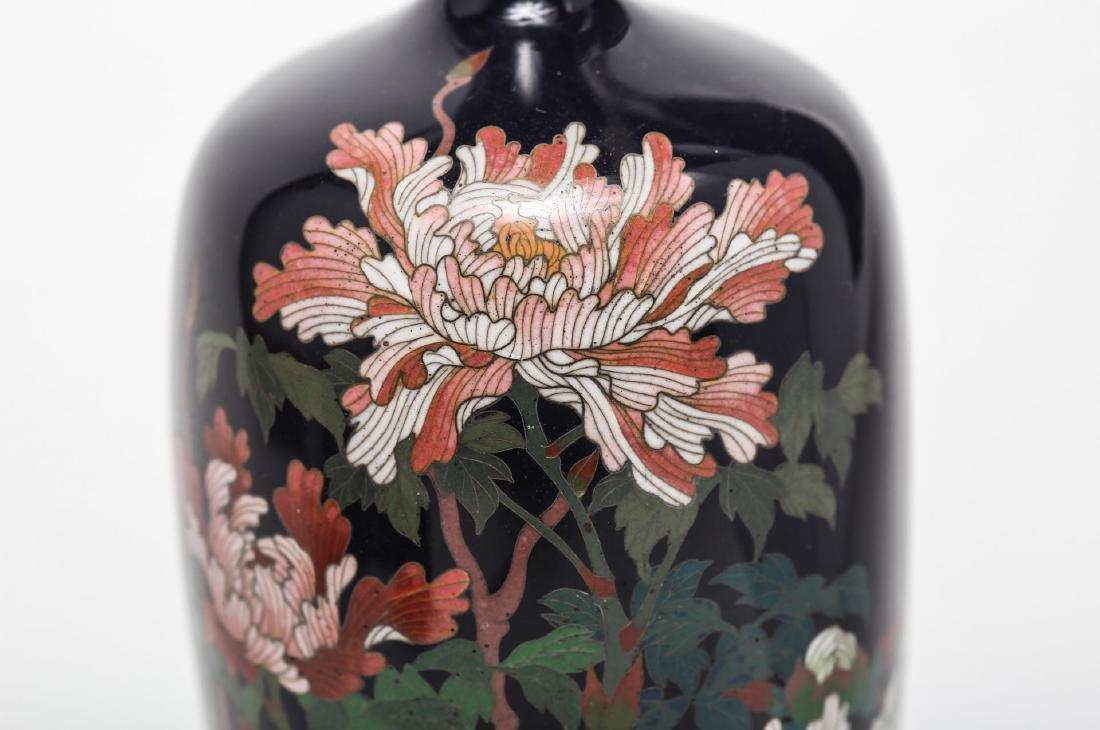 Japanese Cloisonne Enamel Vase, Antique - 3