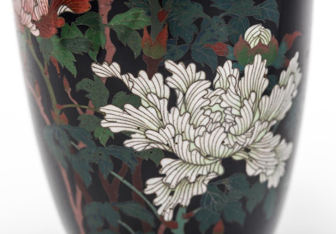Japanese Cloisonne Enamel Vase, Antique - 4