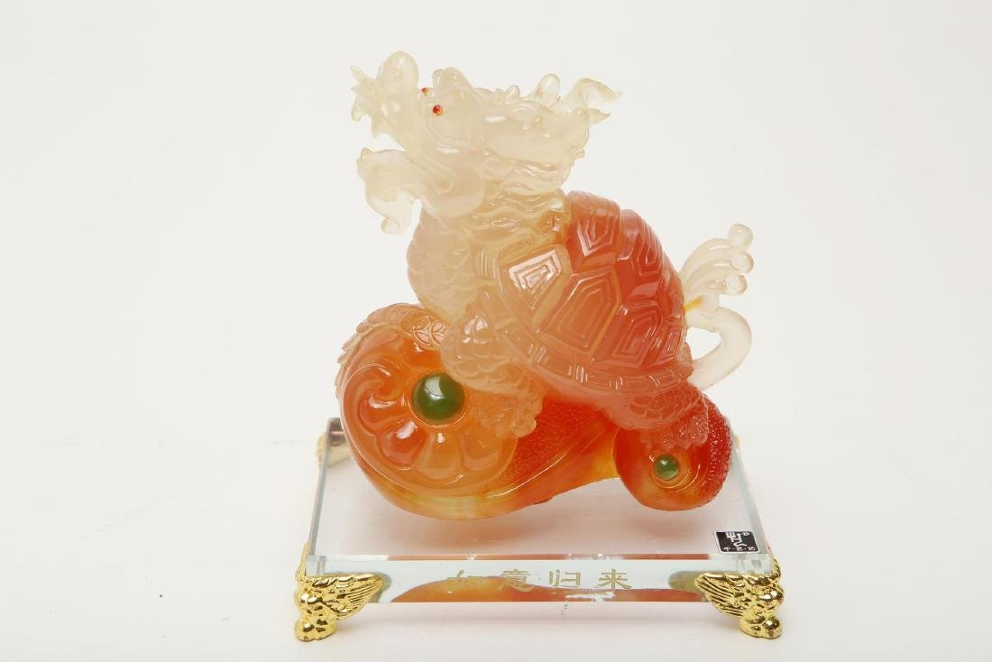 Chinese Peking Glass Pixiu Figure, Vintage - 6