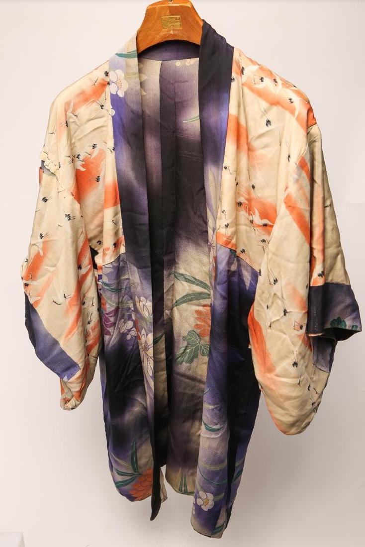 Japanese Art Deco Silk Michiyuki, Woman's