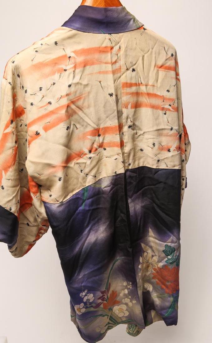 Japanese Art Deco Silk Michiyuki, Woman's - 3