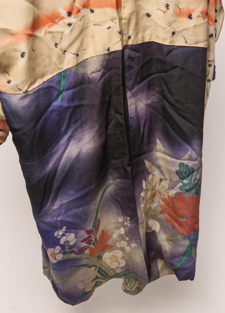 Japanese Art Deco Silk Michiyuki, Woman's - 4