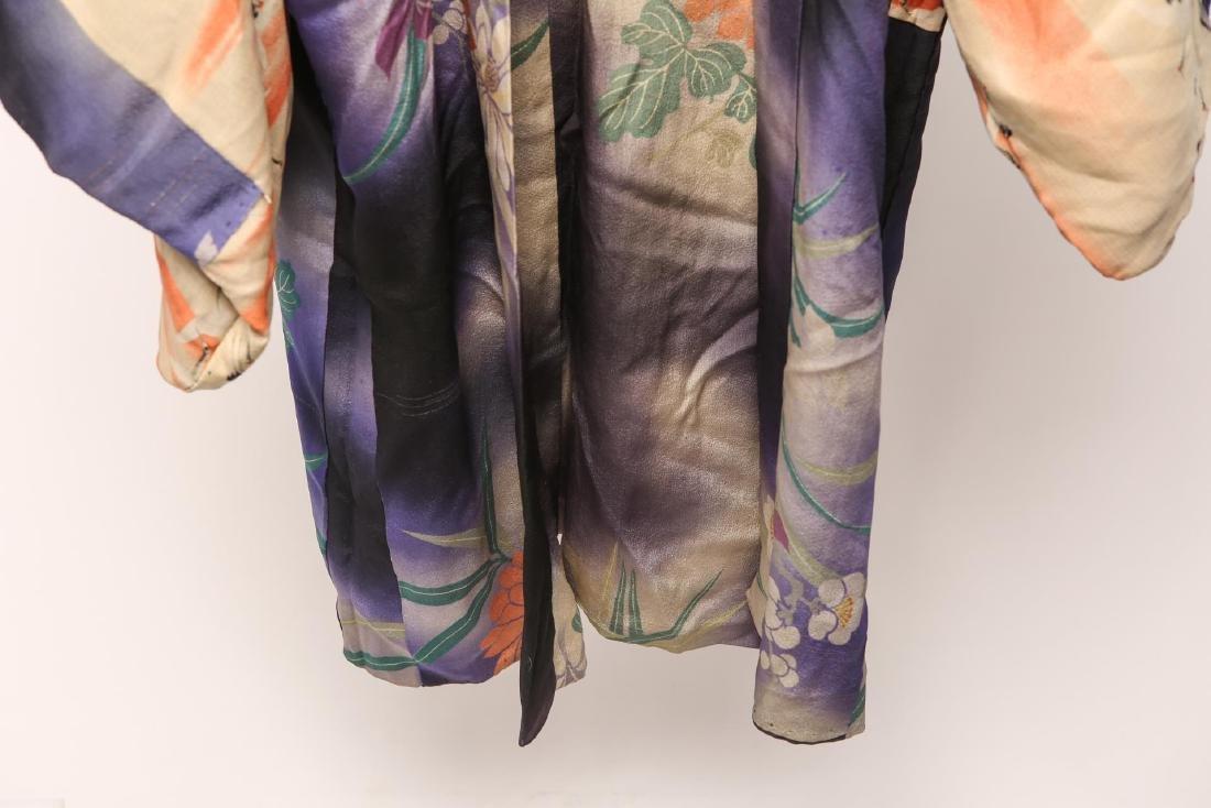 Japanese Art Deco Silk Michiyuki, Woman's - 5
