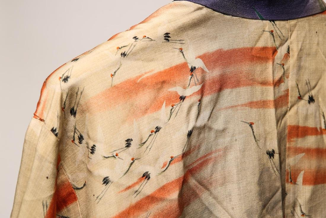 Japanese Art Deco Silk Michiyuki, Woman's - 6