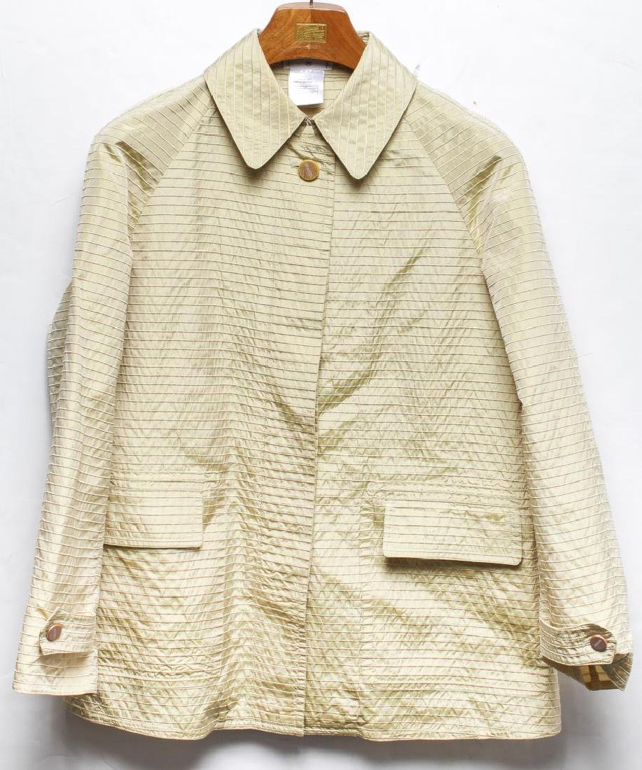 Chanel Jacket, Couture Italian Silk & Wool