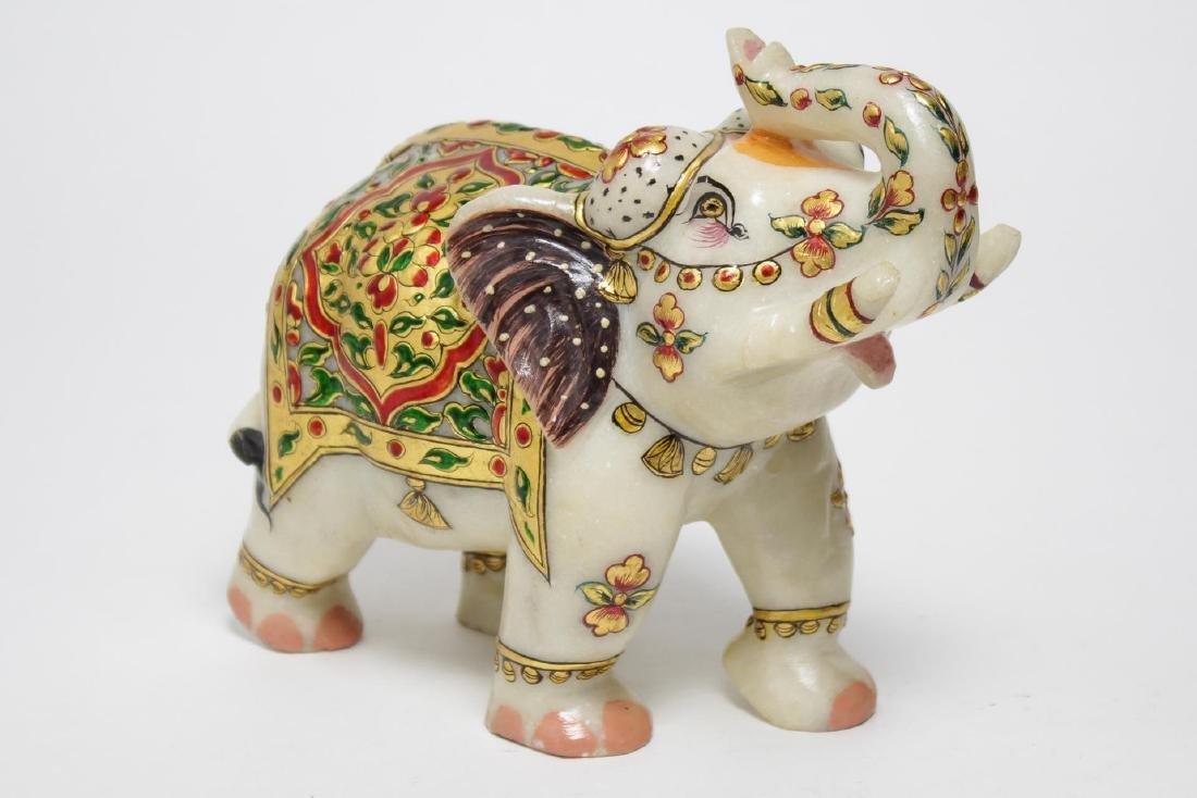 Lepakshi Indian Elephant, Gold Leaf & Composite