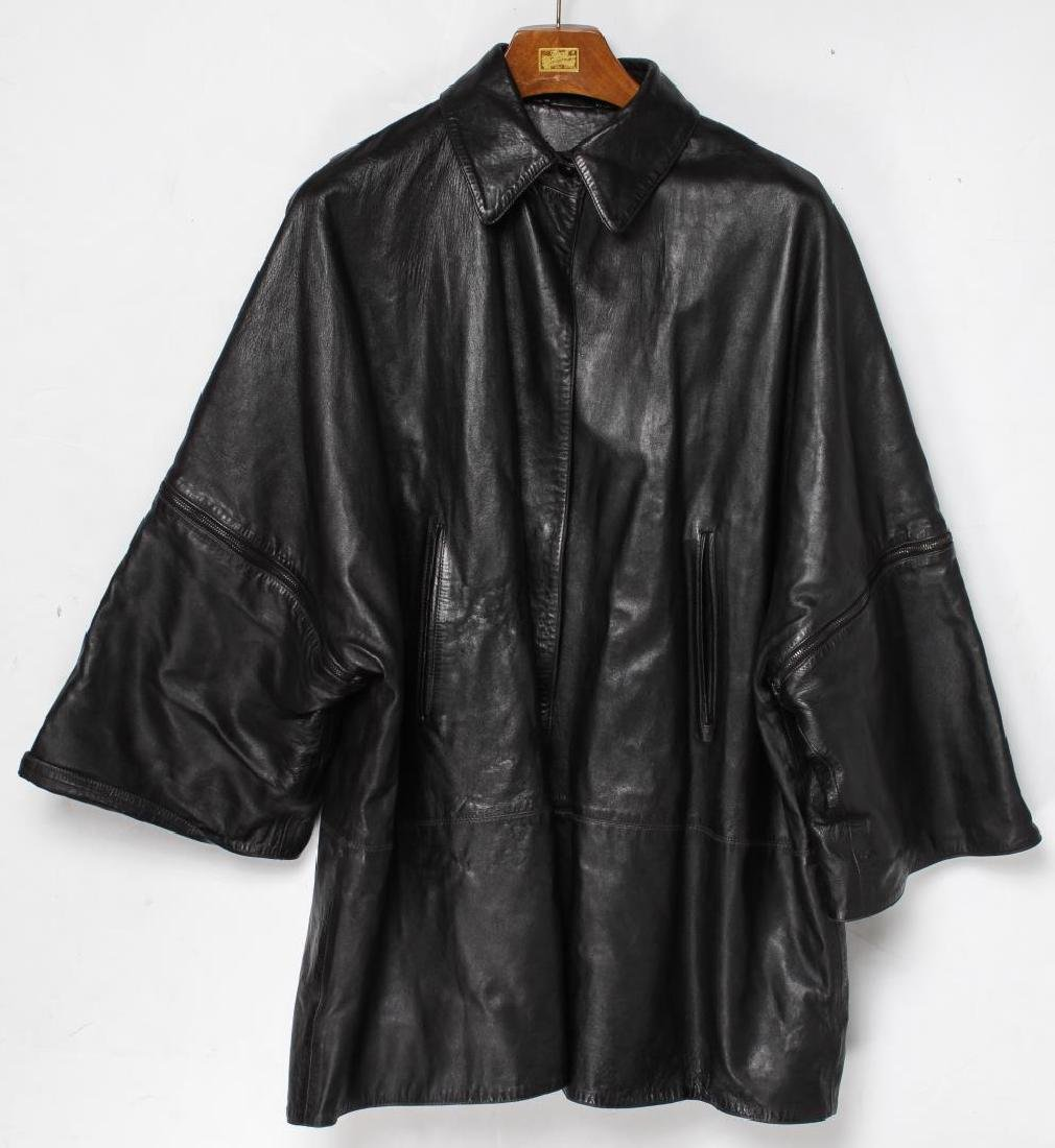 Claude Montana Jacket, Black Leather Lambskin