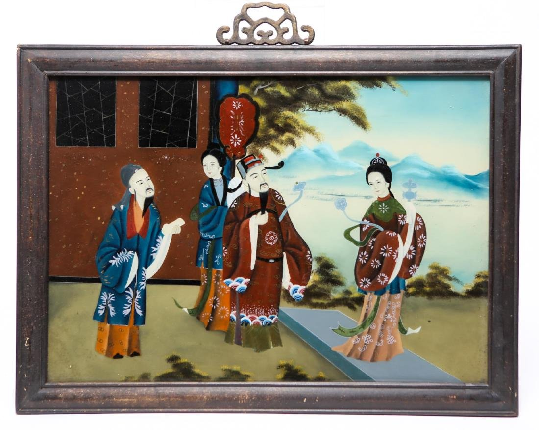 Antique Chinese Reverse-Glass Painting