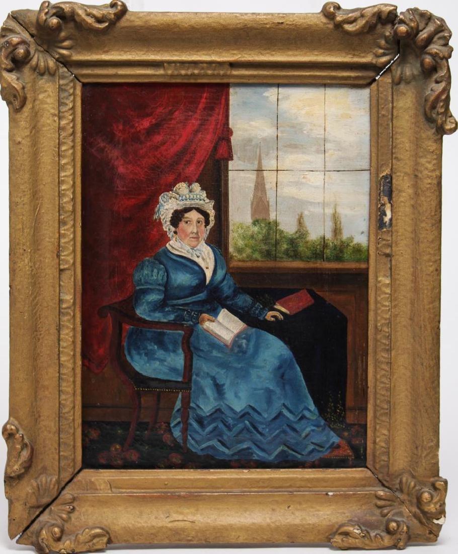 Antique Continental Portrait, Oil on Canvas