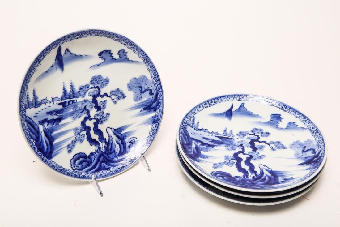 Chinese Qing Kangxi Porcelain Plates, Blue & White