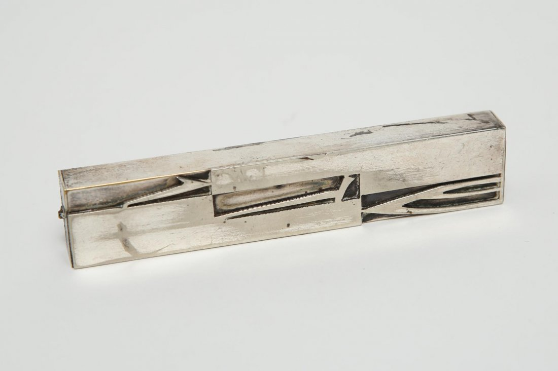 Judaica inc. Bezalel Pin, Silver & -Plate, 3 Pcs. - 4