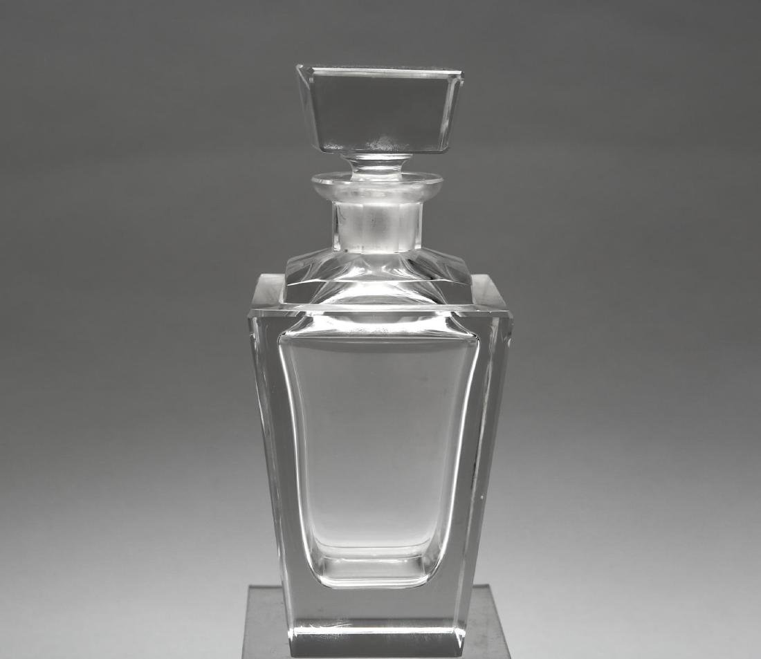 Art Deco-Manner Decanter, Lead Crystal