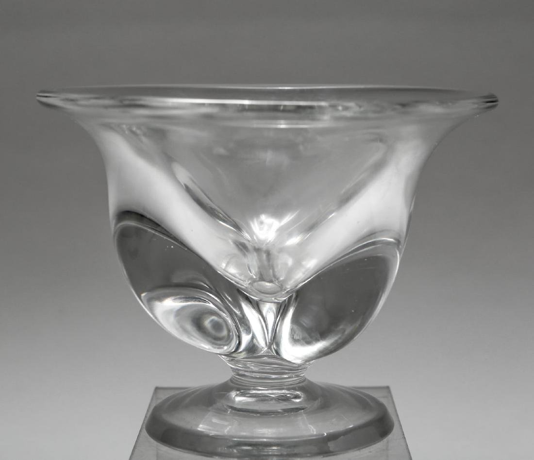Steuben-Manner Art Glass Footed Bowl / Compote