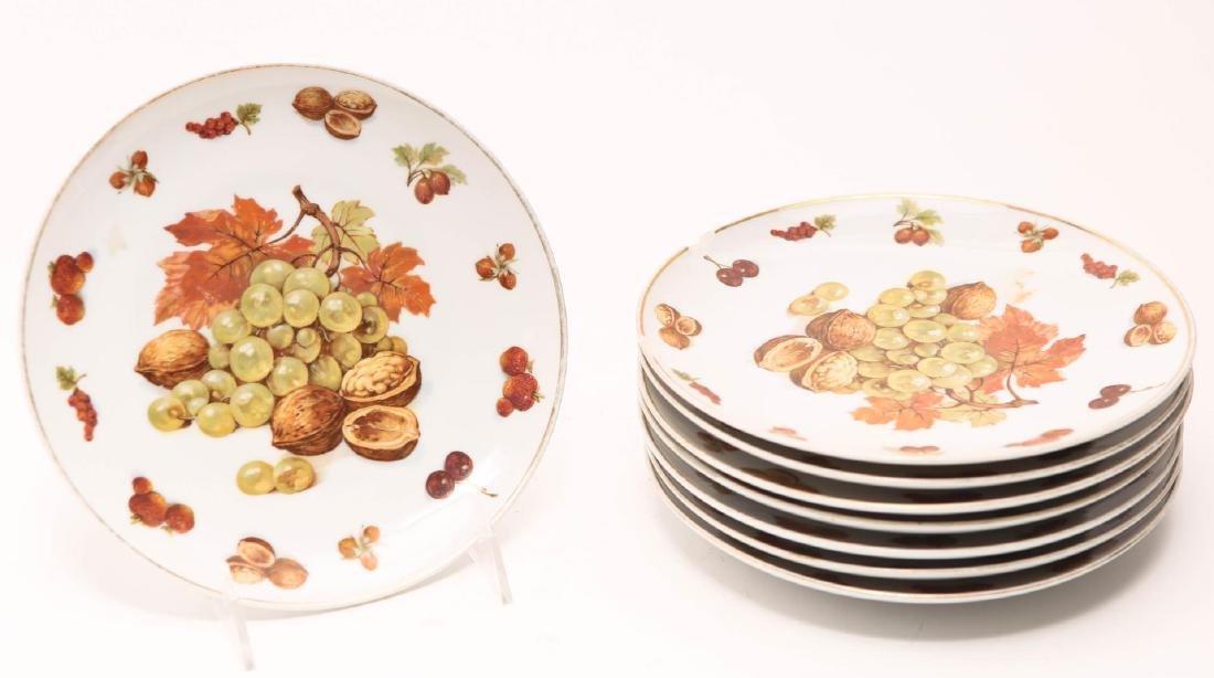 Royal Hanover German Porcelain Fruit Plates, 8
