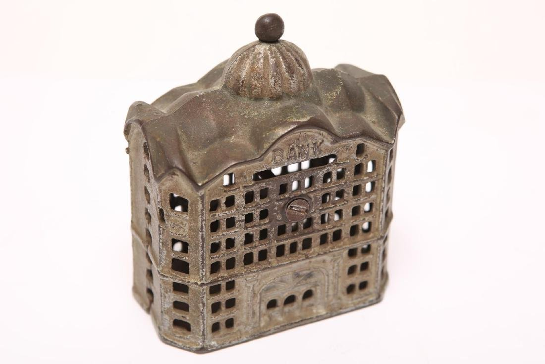 Cast Iron Still Penny Bank, Painted, 19th/20th C