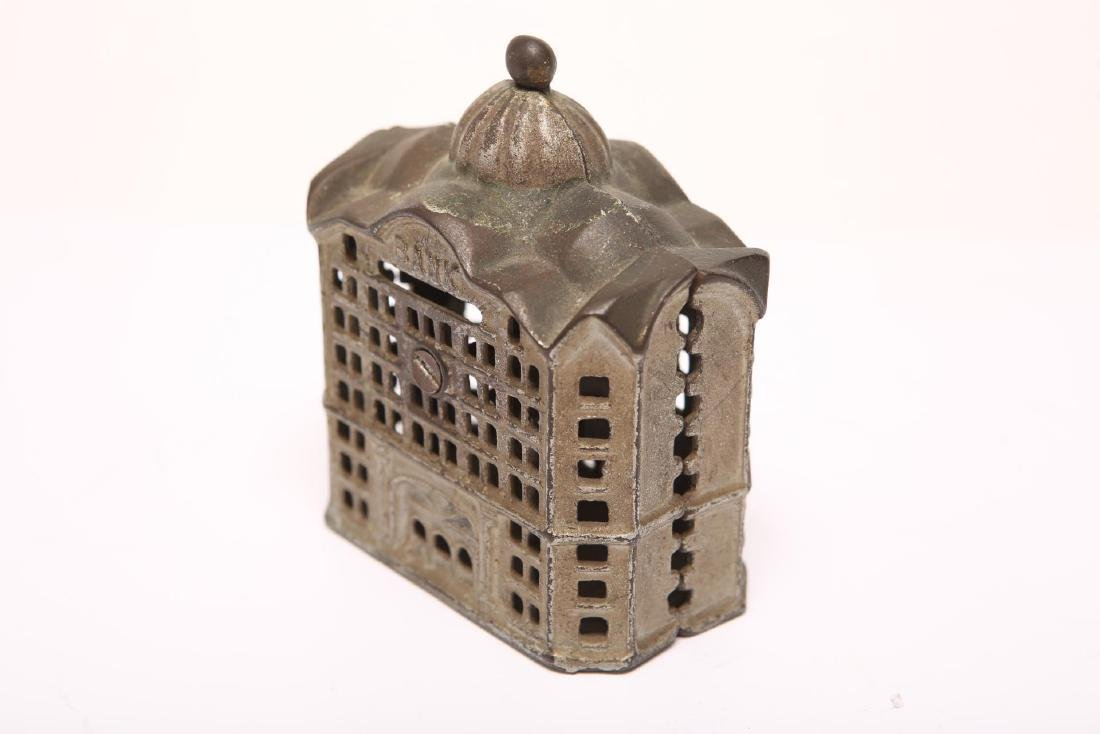 Cast Iron Still Penny Bank, Painted, 19th/20th C - 2