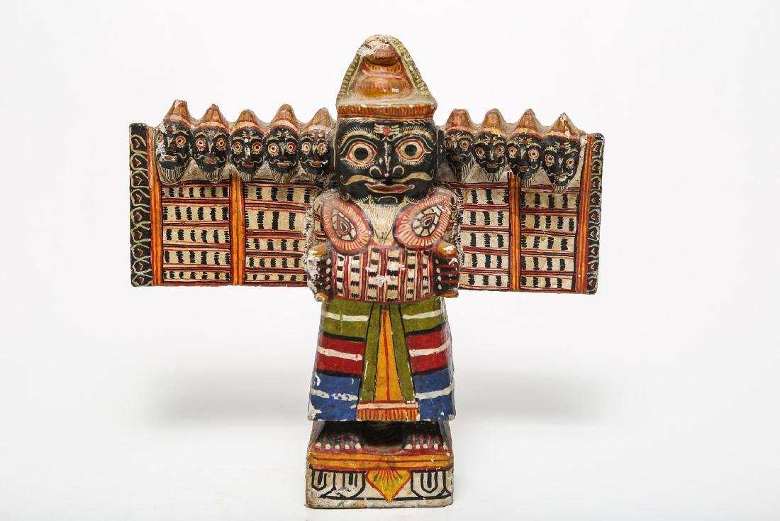 Ravana Sculpture, Indian or Sri Lankan Folk Art