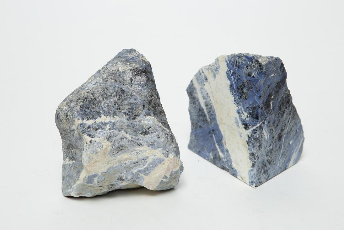 Mineral Bookends, Polished & Rough Pair
