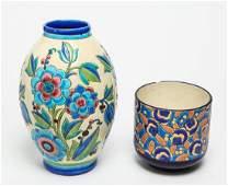 Keramis & Longwy Art Deco Pottery Pieces, 2