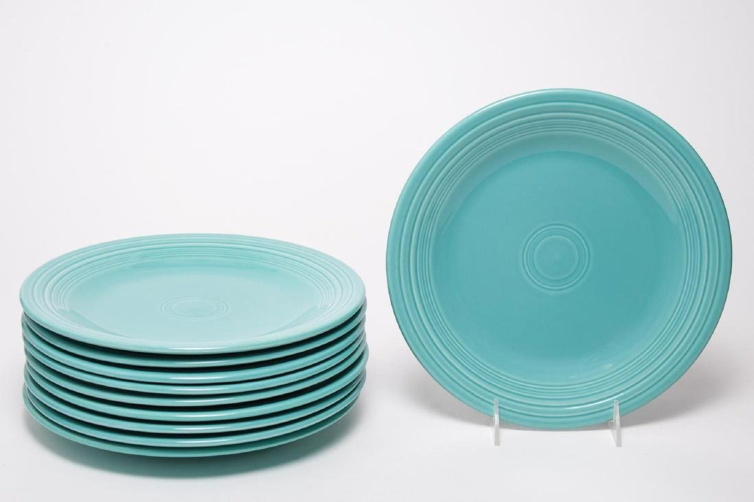Homer Laughlin Fiestaware Dinner Plates Set of 10 & Fiestaware Prices - 712 Auction Price Results