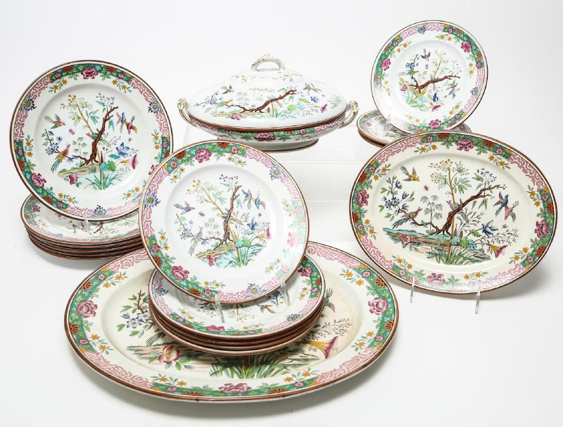 Vintage European Porcelain Dinner Service