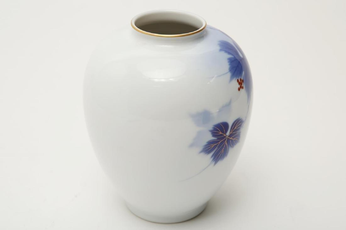 Japanese Porcelain Vase, Blue & White - 2