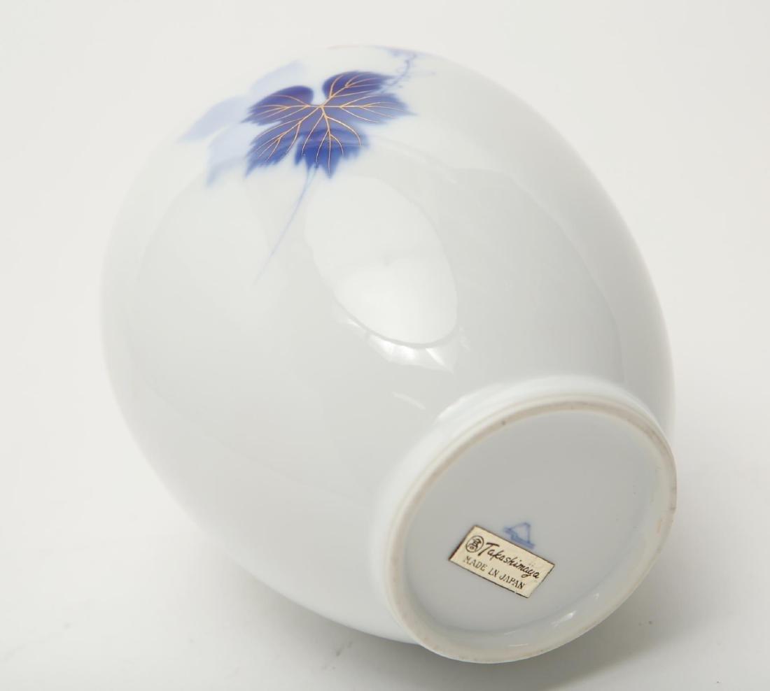 Japanese Porcelain Vase, Blue & White - 3