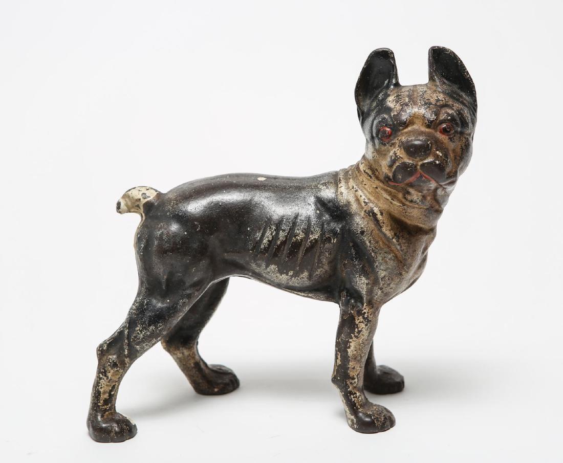 Hubley-Manner Boston Terrier Dog Doorstop, Antique