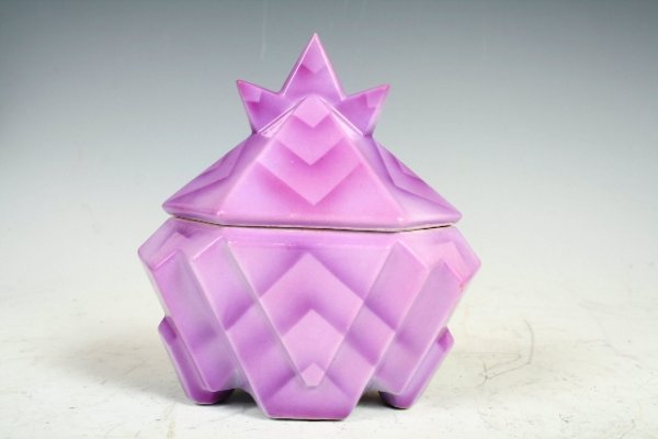 2001: German Art Deco-Cubist Porcelain Jar c1930