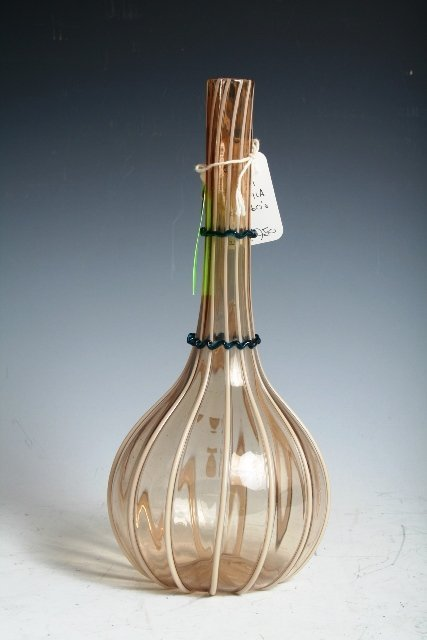 2002: Salviatti Vetre A Fila Handblown Glass Vase c1860