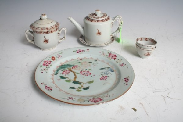 2003: Goup of 6 Chinese Export Porcelain Wares c1800