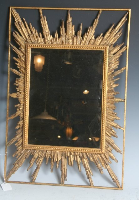 2011: Late 19th C Italian Giltwood Sunburst Mirror