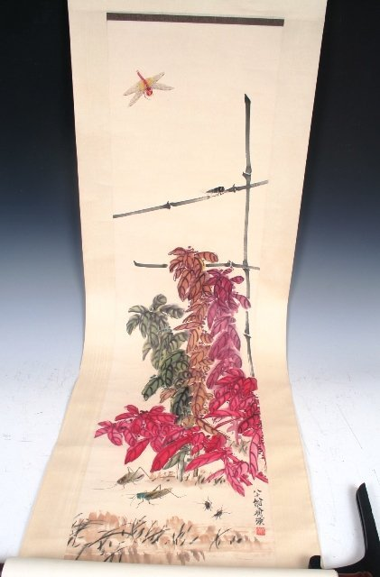 2019: Chinese Scroll Painting Attributed to Chi Baishi
