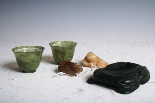 2024: A Group of 5 19th-20th C Chinese Jade Items