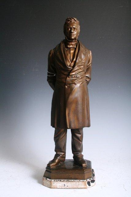 2044: Signed Bronze Figure of American Politician c1830