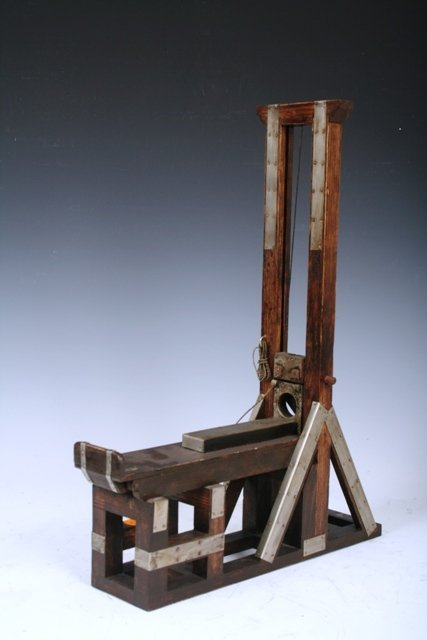2373: Early 20th C Guillotine Cigar Cutter