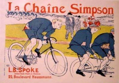 """2664: Toulouse-Lautrec """"La Chaine Simpson""""  Poster 1896"""