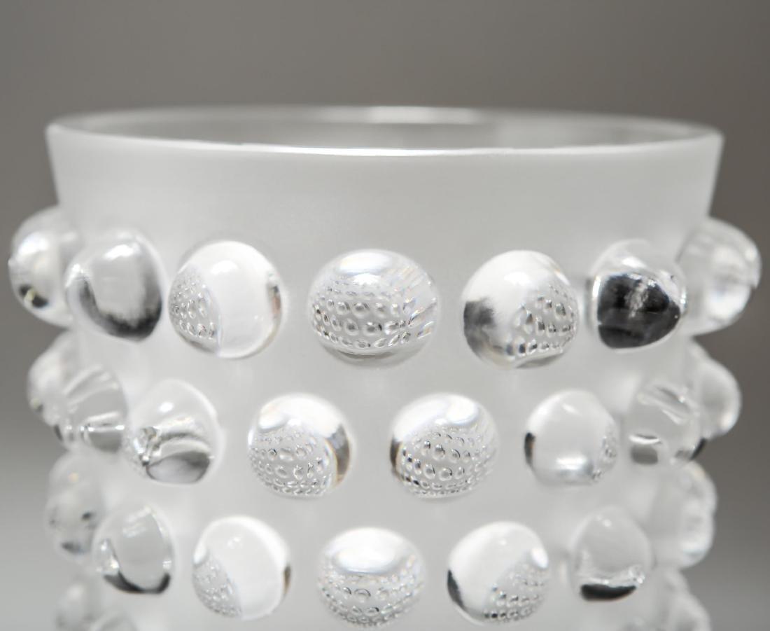 "Lalique Crystal ""Mossi"" Hobnail Glass Vase - 2"