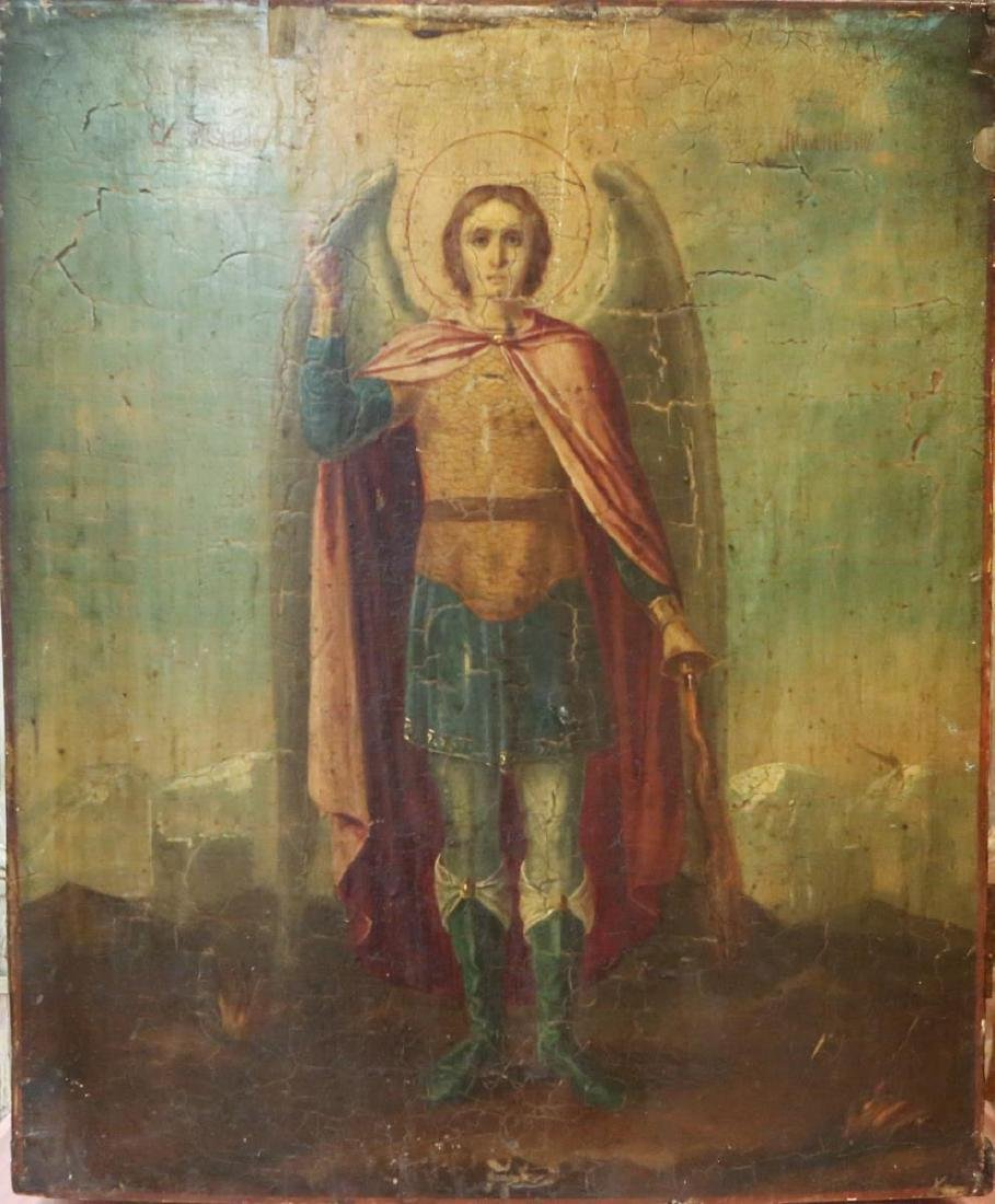 Russian Icon of St. Michael the Archangel, Antique