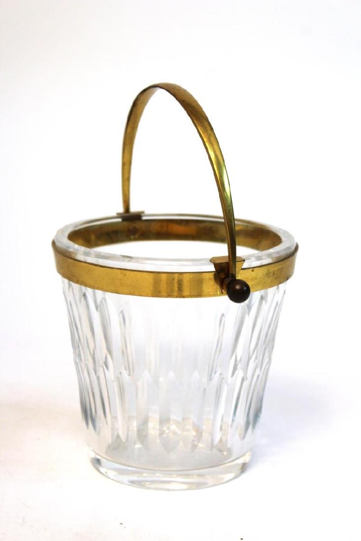 Baccarat Glass Ice Bucket, French Lead Crystal - 10