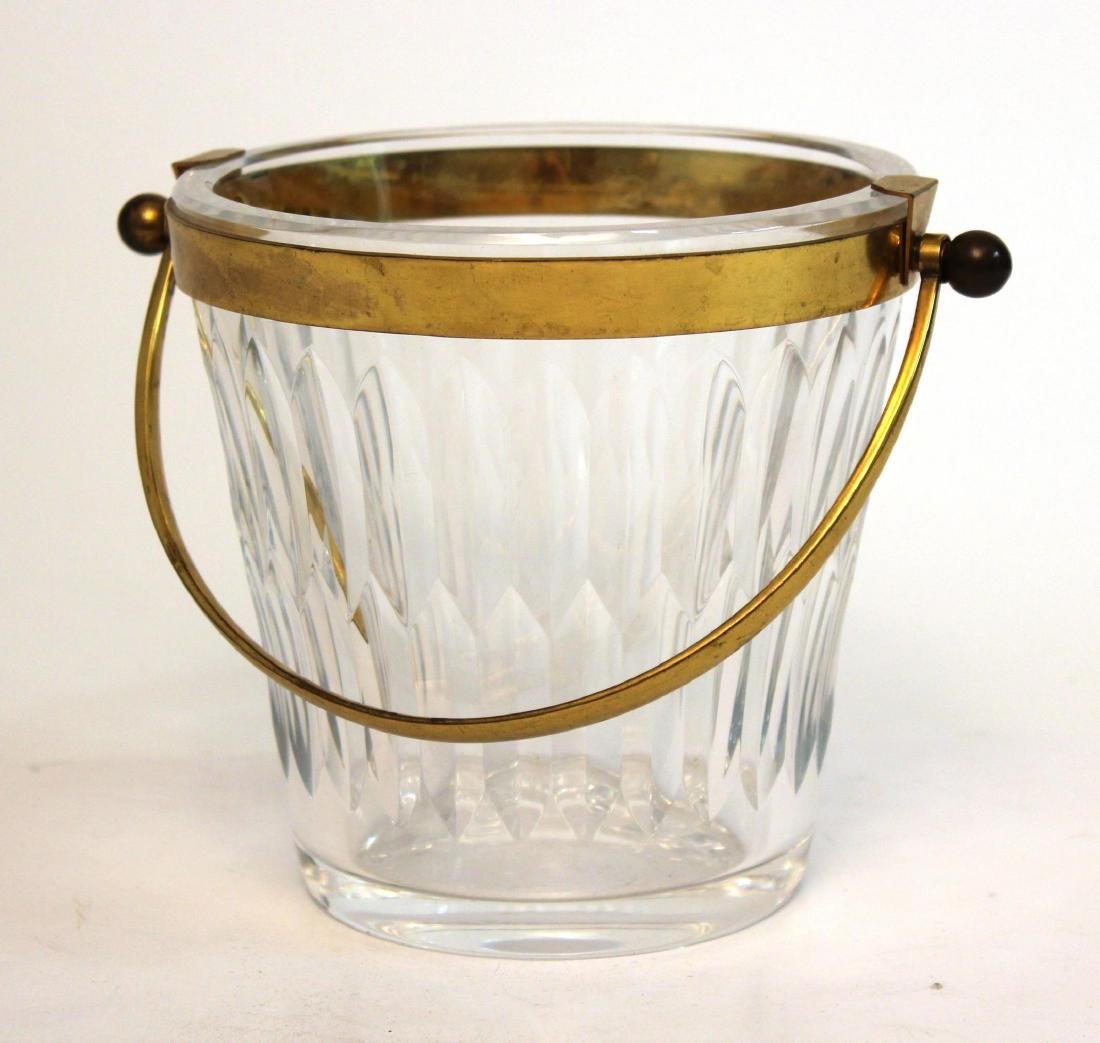 Baccarat Glass Ice Bucket, French Lead Crystal