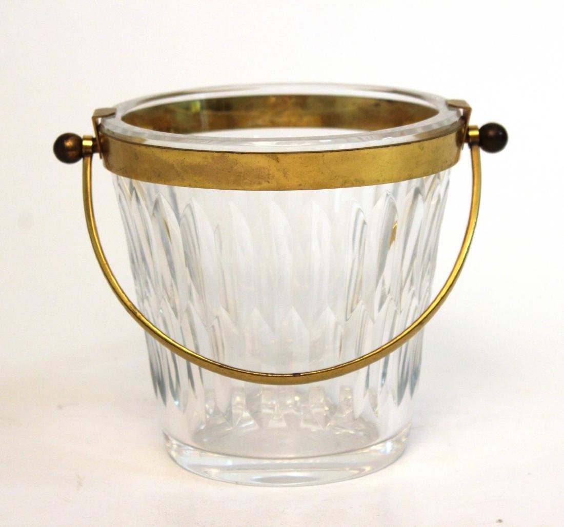 Baccarat Glass Ice Bucket, French Lead Crystal - 2