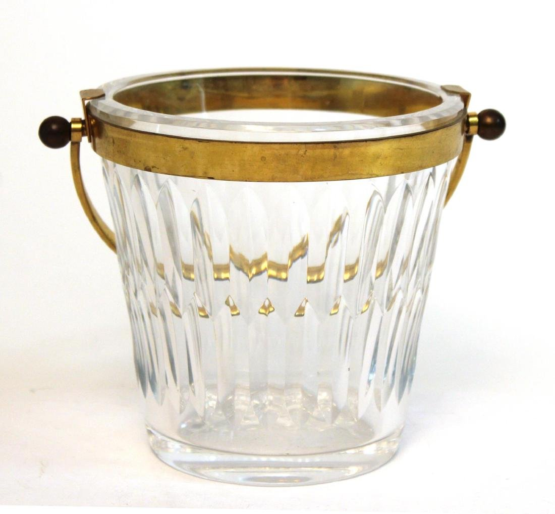 Baccarat Glass Ice Bucket, French Lead Crystal - 5
