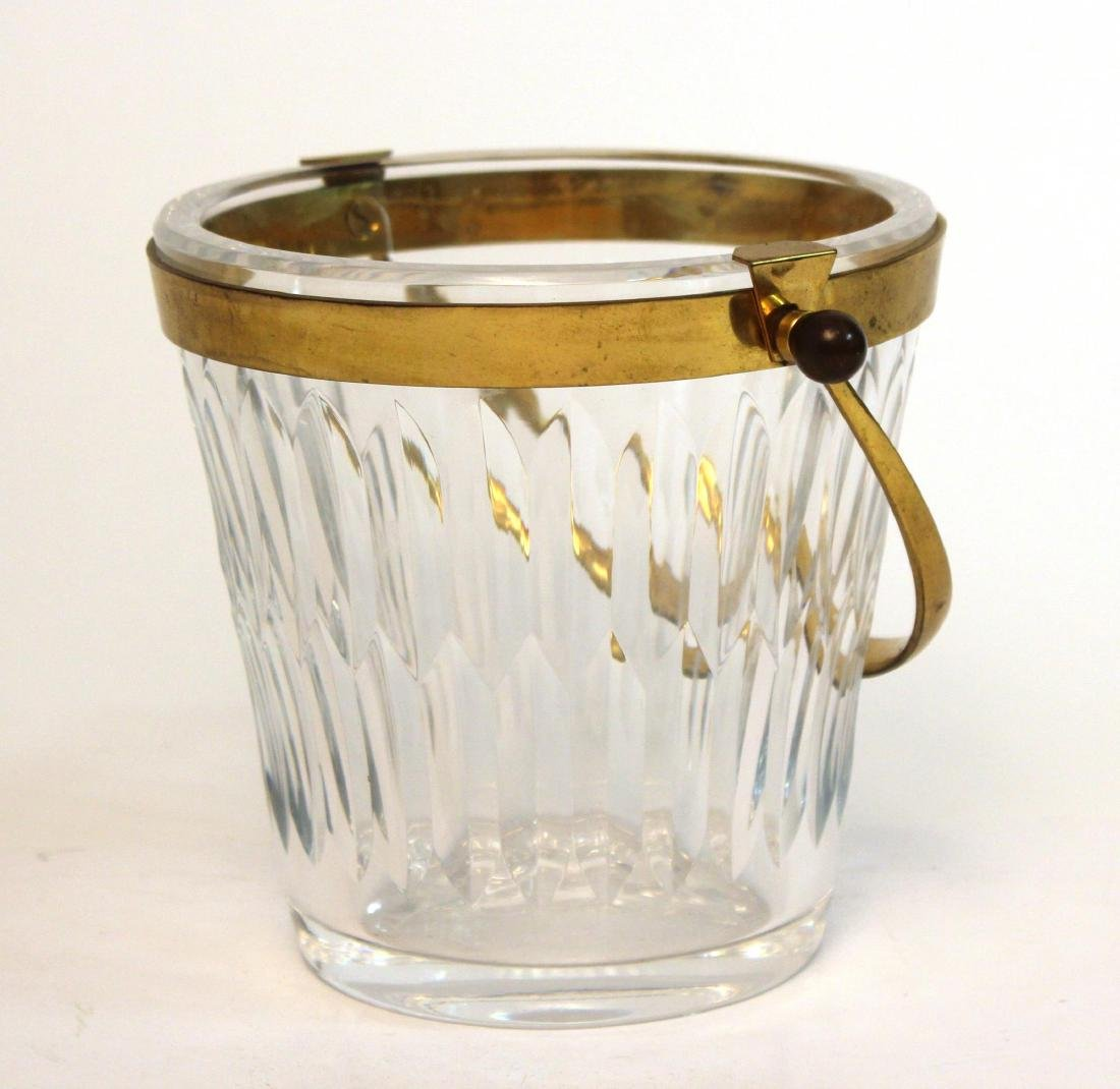Baccarat Glass Ice Bucket, French Lead Crystal - 6