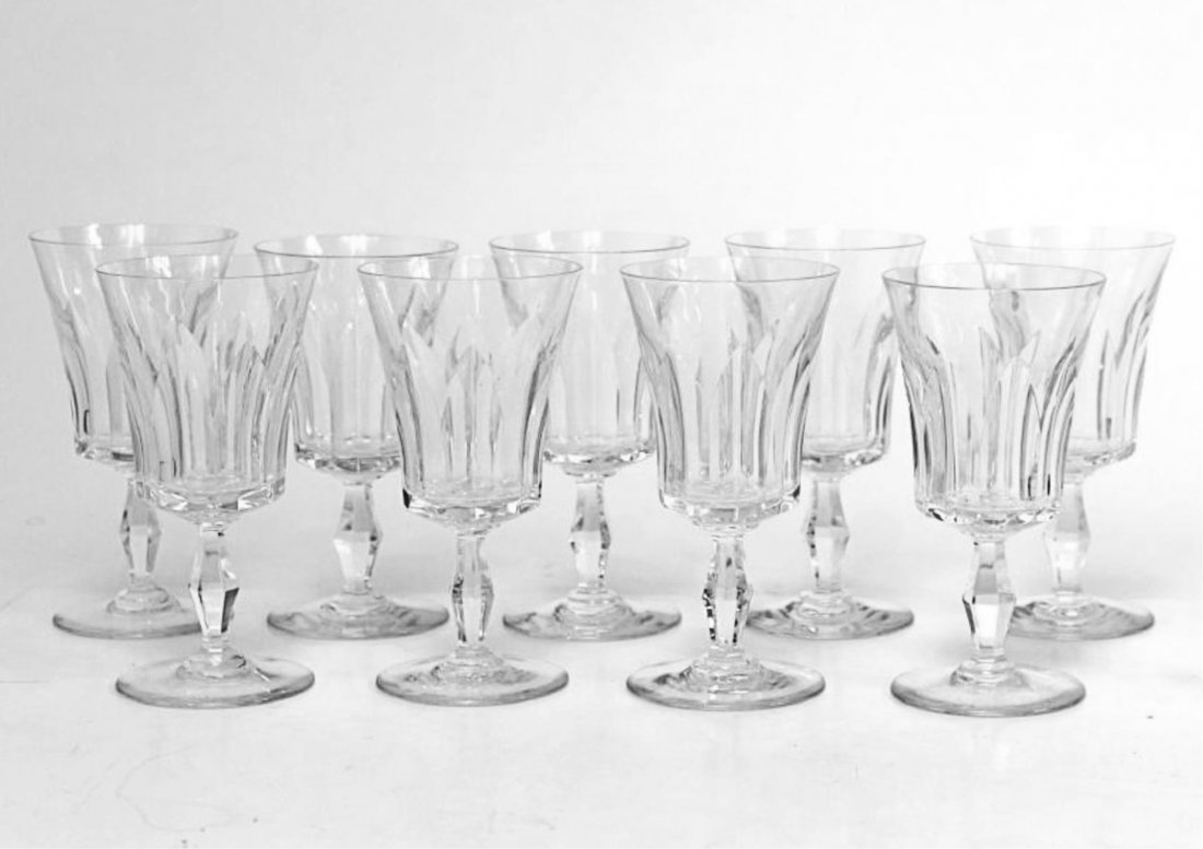 "Baccarat ""Etna"" Port Wine Glasses, Set of 9"