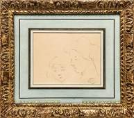 Mary Cassatt (American, 1845-1927)- Graphite/Paper