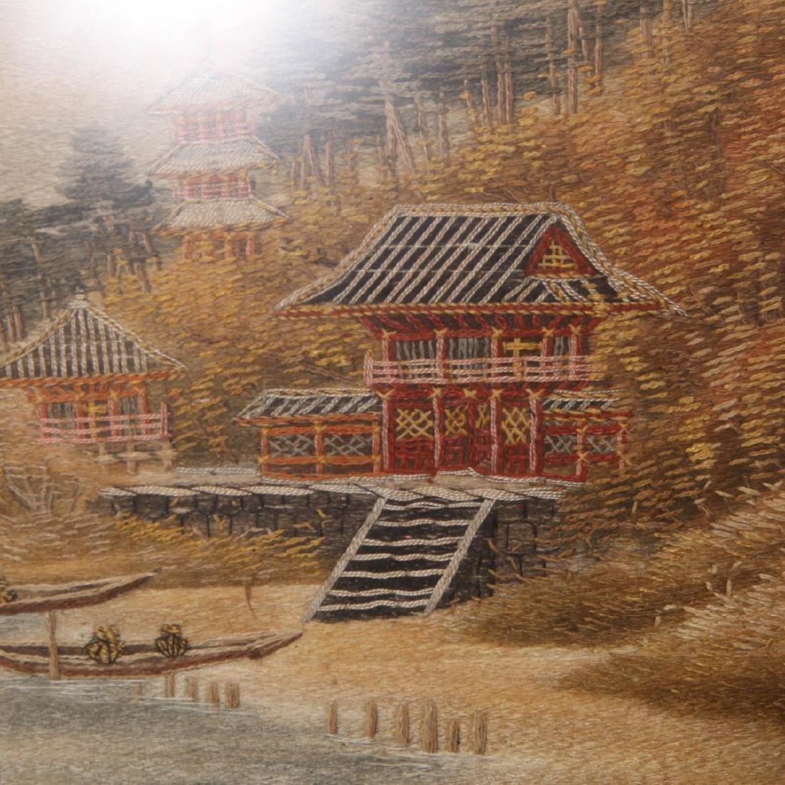 Japanese Tapestry, Woodland Landscape Scene - 2