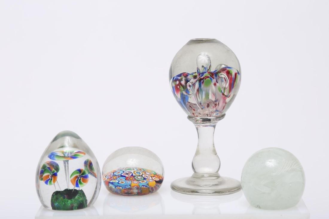 Murano Venetian Art Glass Paperweights, Group of 4
