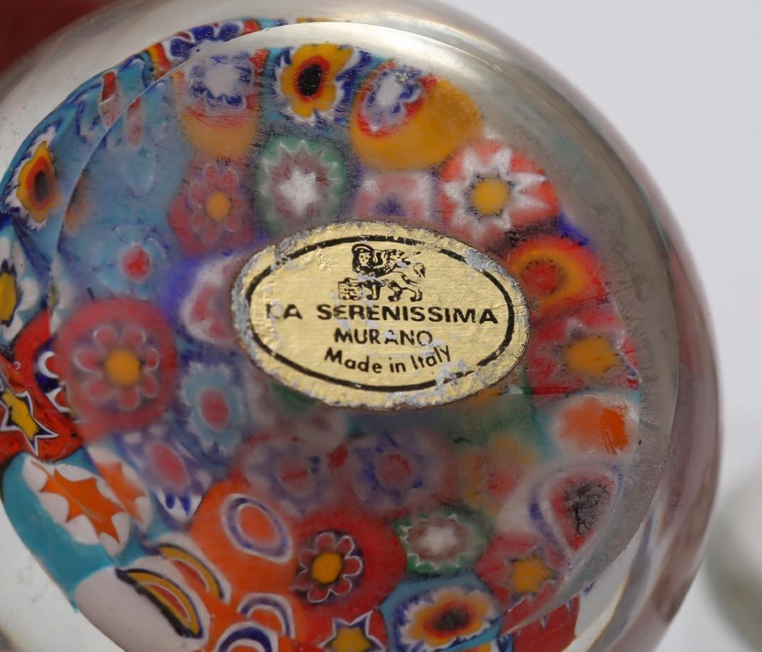 Murano Venetian Art Glass Paperweights, Group of 4 - 5